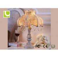 China Fashion Home Decorative E26 / E27 Luxury Bedside Table Lamps For Living Room on sale