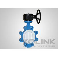 China 2pc PTFE Seated Butterfly Valve Concentric, Wafer Lugged Flanged Ductile Iron on sale