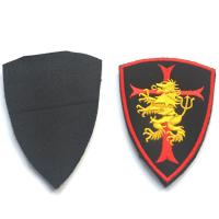 Buy cheap Multi - Colors Custom Cloth Badges Iron On / Adhesive Backing Embroidered from wholesalers