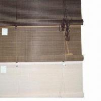 Bamboo Blinds in Rolling Style, Customized Colors and Sizes are Accepted Manufactures