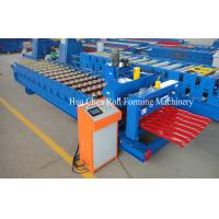 Color Steel Plate Glazed Tile Roll Forming Machine / Roll Form Equipment Manufactures