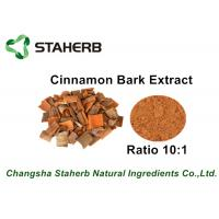 Quality Brown Color Herbal Extract Ratios , Cinnamon Bark Extract Powder For Food for sale