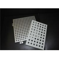 2.5 - 50mm Opening Width Aluminum Perforated Panel For Curtain Wall / Decorative Wall Manufactures