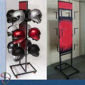 2 Sides Motorcycle Helmet POP Display Rack For Motor Shop Manufactures