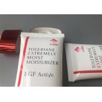 Super Oval Hand Cream Tube Packaging With Shiny Red Electroplate Cap Manufactures