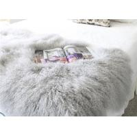 "Real Grey Curly Hairs Tibetan Lamb Fur Smooth Warm 48'' X 24""  For Home / Hotel Manufactures"