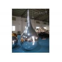 Reflective PVC Silver Inflatable Mirror Ball, Water Drop Shaped Inflatable Floating Mirror Balloons for sale