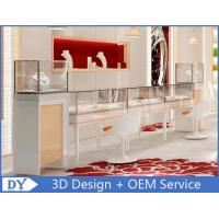 OEM Easy Install Wood Glass Jewelry Display Cases / Jewelry Showcases For Retail Shop Manufactures