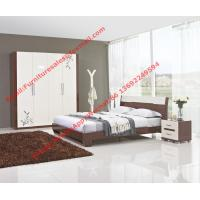 Budget Hotel furniture in modern deisgn by panel bed and doors wardrobe in high glossy Manufactures
