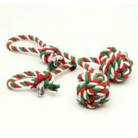 Cotton  Interactive Rope Knot Ball Dog Toy Durable For Extended Tough Play Manufactures