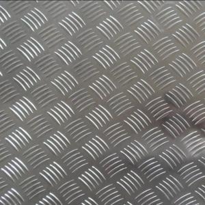 China 1.0 - 7.0mm Thickness 5005 Aluminum Diamond Plate Sheets Mill Finish Surface on sale
