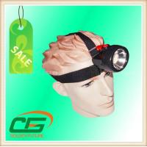 China Portable 80 Lumen High Power LED Mining Cap Lamp 3.7V 4.2V With PC Plastic Case on sale