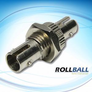 China Nickel Plated Brass Simplex / Duplex ST Fiber Optic Adaptor For CATV, Metro,LANs, Network on sale