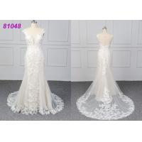 China White Color Lace Wedding Womens Ball Gowns Fashionable Bridal Dress Eco on sale
