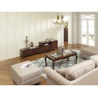 Quality Rubber Wood Home Living room Leisure Amercian Furniture TV wall unit By Floor for sale