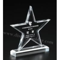 China Clear Crystal Trophy Award Medal on sale