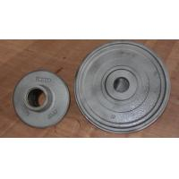 Wheel carbon steel sand casting parts zinc plating by cut and grind gate Manufactures