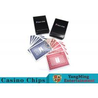 143g Casino Playing Cards / Waterproof Playing Cards With Black Core Paper Manufactures