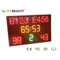 Buy cheap 1240mm x 1900mm x 100mm Led Football Scoreboard / Soccer Score Board With Led Team Name from wholesalers