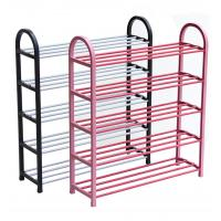 China H275 Metal And PP Plastic Space Saving Shoe RackWith Molded Plastic Support Frames on sale