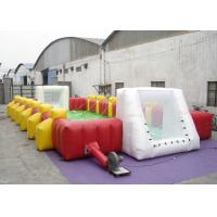 China Commercial Large Inflatable Football Games Enviroment - Friendly PVC inflatable football field game for adult on sale