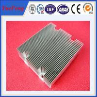 china wholesale customized designs extruded aluminum alloy profiles heat sink Manufactures