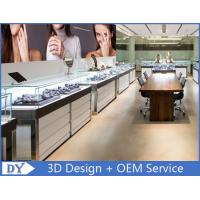 High End Stainless Steel Frame Jewelry Display Counter with Glass Manufactures