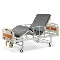 Full Size Hospital Bed Medical Equipment Beds Equipped With Center Brake System Manufactures