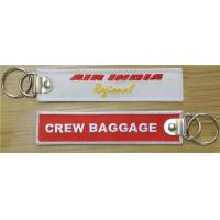 China Air India Regional Crew Baggage Fabric Key Chain Aviation Tags on sale