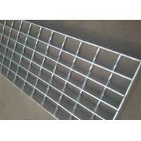China Ventilated Stainless Steel Open Grid Flooring Twisted / Round Bar Light Weight on sale