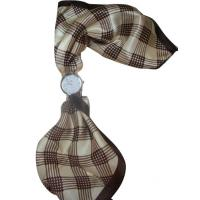 Beautiful Silk Plaid Scarf Lady Womens Quartz Watches , Antique scarf watch Manufactures