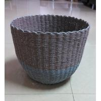 100% handwoven Paper material   storage basket with round shape,artistic basket Manufactures