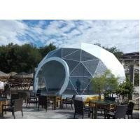 China Geodesic PVC Heavy Duty Party Tent Steel Half Sphere Waterproof For Camping on sale