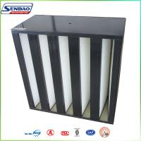 Clean Process Manufacturing Large Dust Capacity V Bank Absolute Hepa Air Filters Manufactures