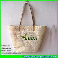 China LUDA silver beach bag paper straw  cheap promotion straw shopping bag on sale