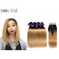 China Double Drawn Unprocessed Brazilian Hair Bundles For Dyeing And Bleaching on sale