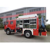 Gross Weight 14900kg Fire Equipment Truck , Max Speed 100KM/H Tanker Fire Truck Manufactures
