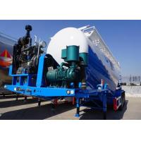 67cbm 80T Cement Trailer , Dry bulk trucking transportation with LED light Manufactures