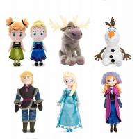 Disney Frozen Family Full Set Characters Cartoon Stuffed Plush Toys For Collection Manufactures
