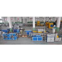 Single Wall Corrugated Pipe Extrusion Machinery For PP / PE / PVC Pipe Manufactures