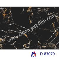High Definition Printing Pvc Decorative Foil Black Marble Moth Proofing Manufactures