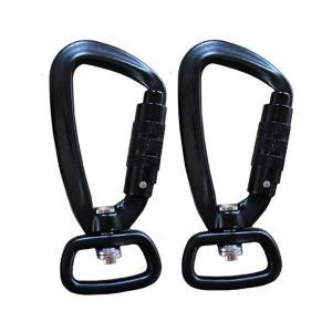 China Magnalium Matt Shiny Black Anodized Auto Locking Carabiner Hooks on sale