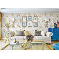 Removable Indoor Non Woven Wallcovering For Bedroom Walls , Flower Design Manufactures
