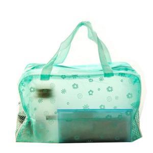 Matt Imprinted PVC Transparent Makeup Bag  Eco Friendly Cosmetic Tote Bag Manufactures