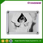Latest photo snap frame aluminum custom size snap mitred corner school photo frame Manufactures