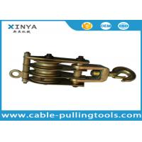 China Three Wheels 30KN Steel Pulley Block Snatch Block for Rope Pulling on sale
