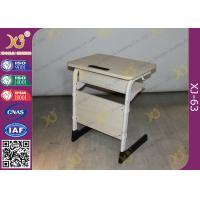 Epoxy Powder Coated Student Desk And Chair Set , Childrens School Desk And Chair Manufactures