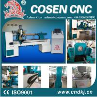 CNC wood lathe machine with casted bed for baby bed, stair column, wood sports bats,wood crafts Manufactures