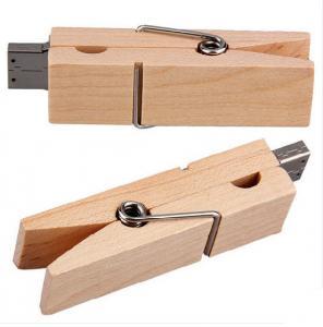 Clip Secure  Kingston 128 Wooden USB Flash Drive ,    Wooden Pen Drive 60*26*10mm Manufactures
