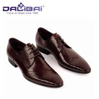 Lace Up Man Shoes , Genuine Leather Pointed Toe Man Dress Shoes With Italy Design Manufactures